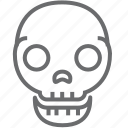 danger, death, skull icon