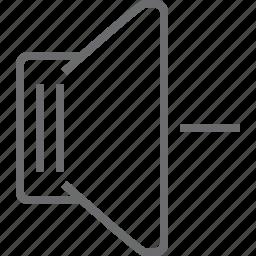 decrease, speaker icon