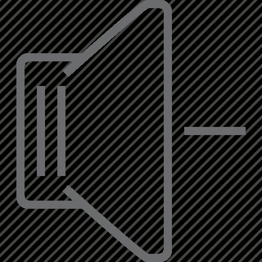 Speaker, decrease icon - Download on Iconfinder