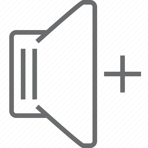 increase, speaker icon