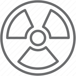 atomic, nuclear, steerwheel icon