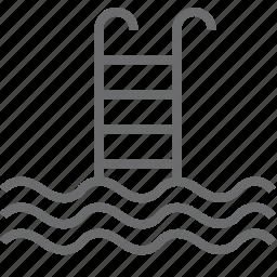 elevator, pool, swimming icon