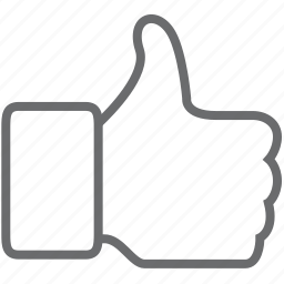 finger, fingers, gesture, hand, like, thumb, up icon