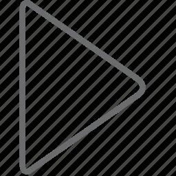 next, triangle icon