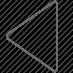 previous, triangle icon