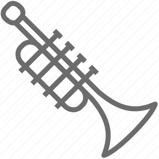 instrument, musical, trompet icon
