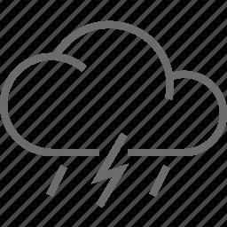 bolt, rain, weather icon