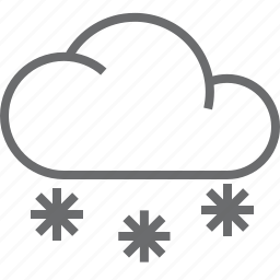 cloud, more, snow, weather icon
