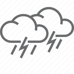 stormy, weather icon