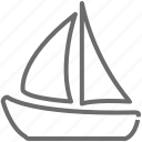 boat, ship, yacth icon