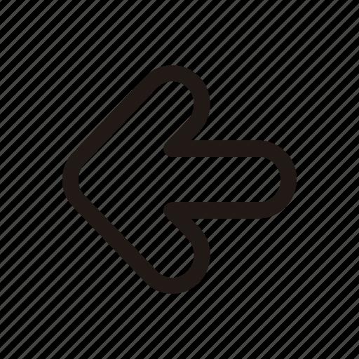 align, left, move, previous, sign, traffic icon
