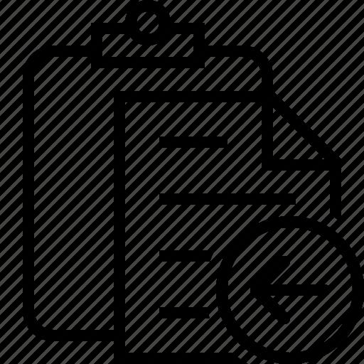 clipboard, copy, paste, previous, task icon