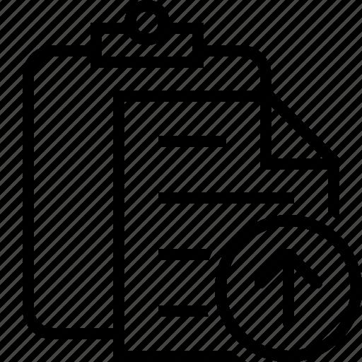 Clipboard, copy, paste, task, upload icon - Download on Iconfinder