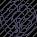 brain, bright, creative, idea icon