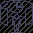 analytics, graph, vision icon
