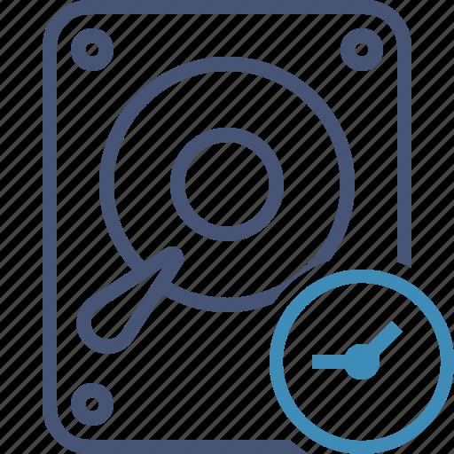 Clock, data, disk, drive, hard, hdd, storage icon - Download on Iconfinder