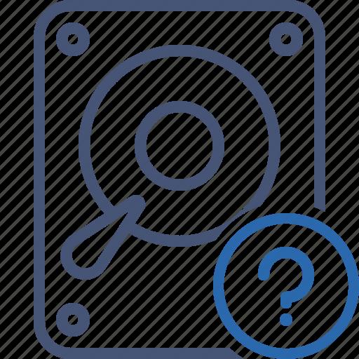 Data, disk, drive, hard, hdd, help, storage icon - Download on Iconfinder