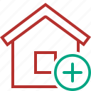 add, address, building, home, house