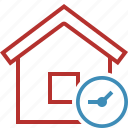 address, building, clock, home, house