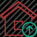 address, building, home, house, upload