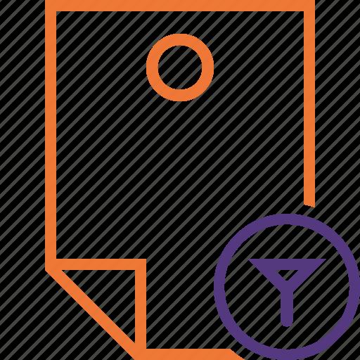 Document, filter, memo, note, pin, reminder, sticker icon - Download on Iconfinder