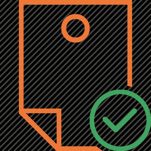Document, memo, note, ok, pin, reminder, sticker icon - Download on Iconfinder