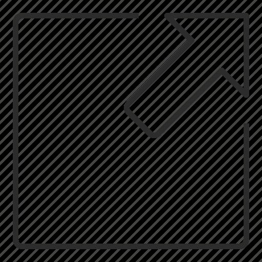arrow, edit, expand, more, spread, ui icon