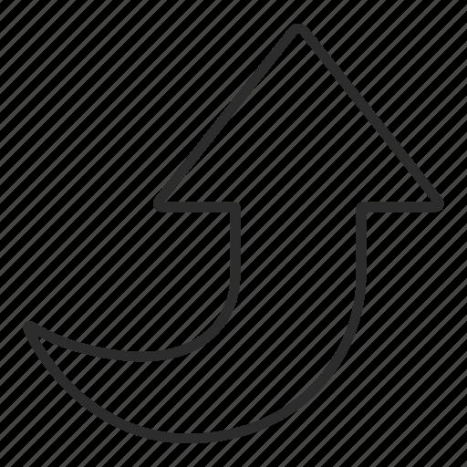 arrow, top, ui, up icon