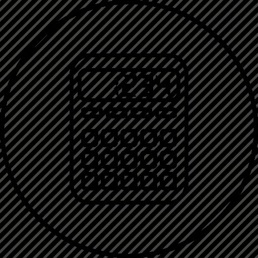 calculating, calculation, calculator, device, digital icon