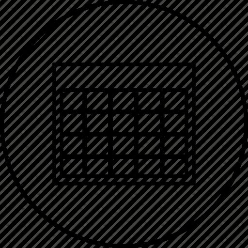 calendar, data, grid, month icon