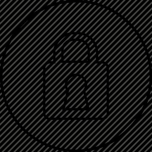 lock, locked, padlock, password, safety, unlock icon