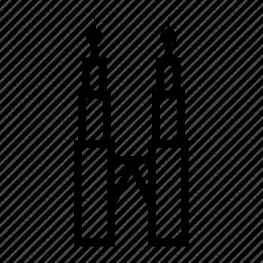 kuala, lumpur, malaysia, petronas, skyscrapers, towers, twin icon