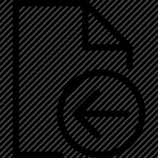 file, left icon