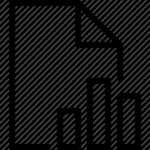 file, statistic icon