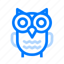 halloween, owl, scary icon