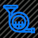 horn, instrument, sound icon
