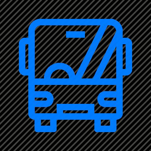 automobile, bus, transportation icon