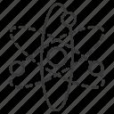 atom, atome, chemistry, education, knowledge, school, science icon
