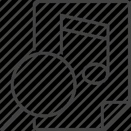 audio, file search, music, search icon