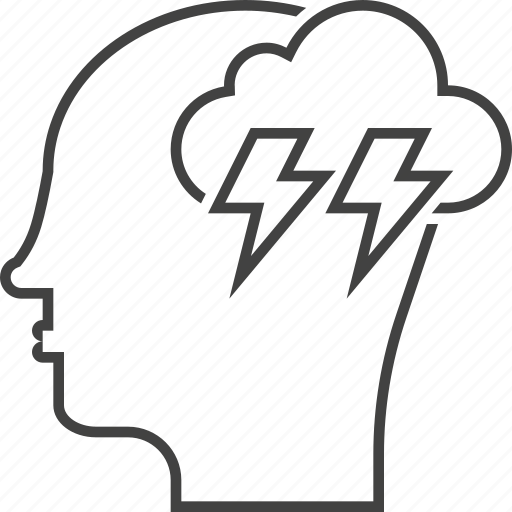 brainstorming, creativity, efficiency, head, idea, thinking icon