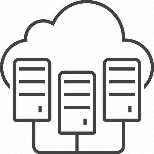 cloud, data center, host, hosting, network, server, storage icon