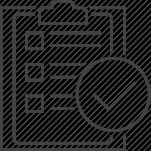 audit, checkmark, clipboard, list, success, tasks, todo icon