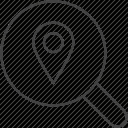 explore, find, location, place, research, search, seo icon
