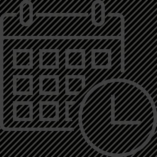 calendar, deadline, estimate, management, optimization, schedule, timetable icon