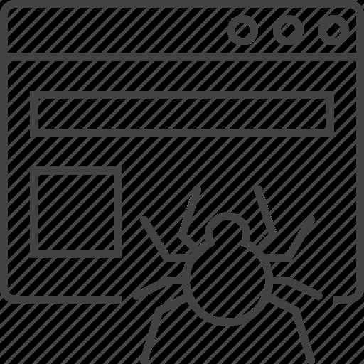 browser, bug, chrome, crawler, programming, source code, web icon