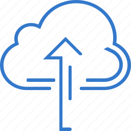 arrow, cloud, storage, up, upload icon