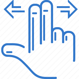 finger, hand, move, navigation, touch icon