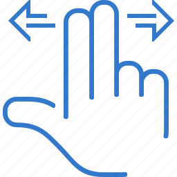finger, hand, move, touch, touchscreen icon