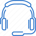 call, headphone, music, support, call center icon