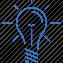 brainstorming, concept, creativity, idea, lamp icon